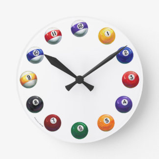 Reloj de pared redondo fresco de las bolas de