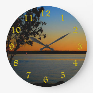 Reloj de pared redondo grande de Murray del lago