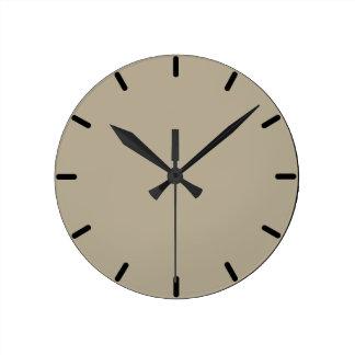 Reloj de pared redondo gris de Nantucket