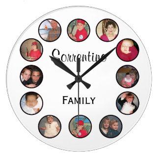 Reloj de pared redondo personalizado moda de la fo