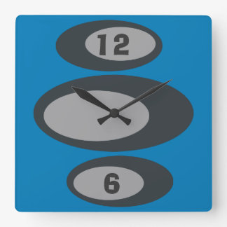 ¡Reloj de pared retro - color de fondo cambiable! Reloj Cuadrado