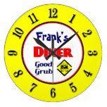 Reloj de pared retro de encargo del comensal