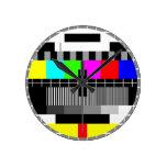 Reloj de pared retro de la pantalla de la prueba d