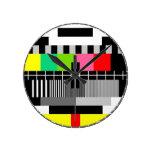 Reloj de pared retro de la televisión