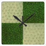 Reloj de pared retro de la verde salvia del remien
