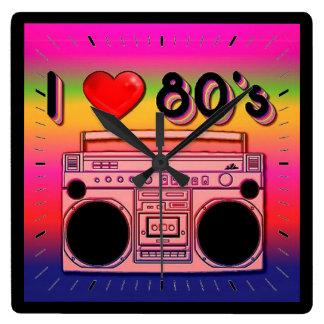 Reloj de pared retro de los años 80 de los años 80