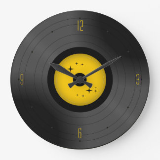 Reloj de pared retro del disco de vinilo