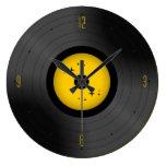 Reloj de pared retro del disco de vinilo (cualquie