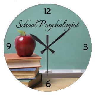 Reloj de pared retro del psicólogo de la escuela