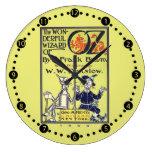 Reloj de pared retro del vintage de mago de Oz