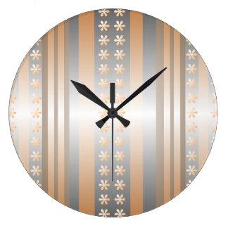 Reloj de pared retro gris del papel pintado del me