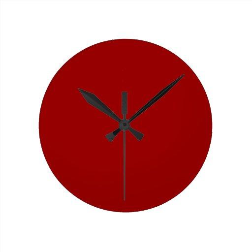 Reloj de pared rojo