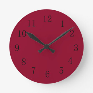Reloj de pared rojo de la cocina de Borgoña