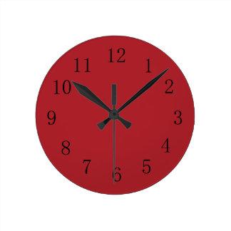 Reloj de pared rojo de la cocina de la sangría