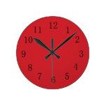 Reloj de pared rojo de la cocina del coche de bomb