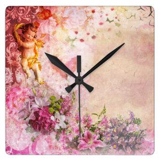 Reloj de pared romántico