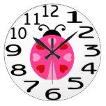 Reloj de pared rosado y rojo lindo personalizado d