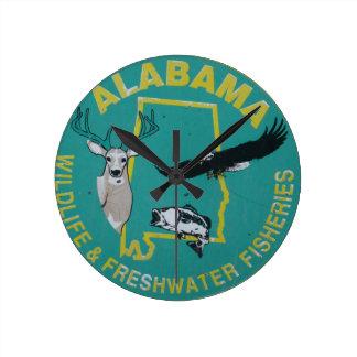 Reloj de pared salvaje de Alabama