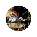 Reloj de pared salvaje del Animal-amante del arte