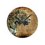 Reloj de pared salvaje del Animal-Amante del gato