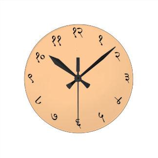 Reloj de pared sánscrito