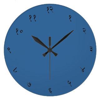 Reloj de pared sánscrito de los números