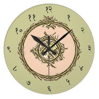 Reloj de pared sánscrito del símbolo