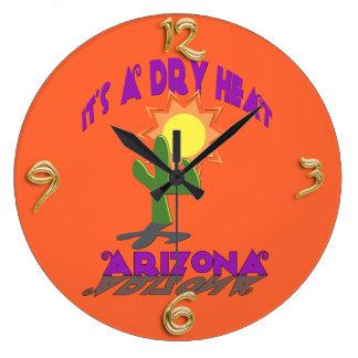 Reloj de pared seco de Arizona del calor