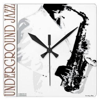Reloj de pared subterráneo del jazz