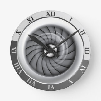 Reloj de pared supersónico del motor a reacción