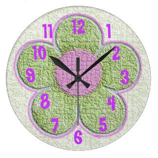 Reloj de pared texturizado niños de la flor