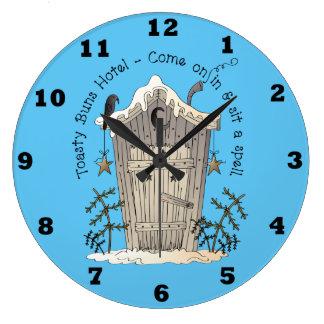 Reloj de pared Toasty del invierno de la diversión