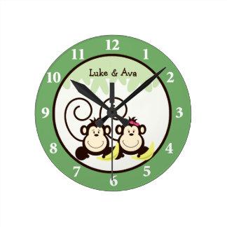 Reloj de pared tonto de los monos - mono del mucha