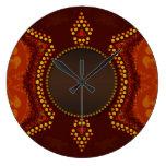 Reloj de pared tribal del amor de la tierra