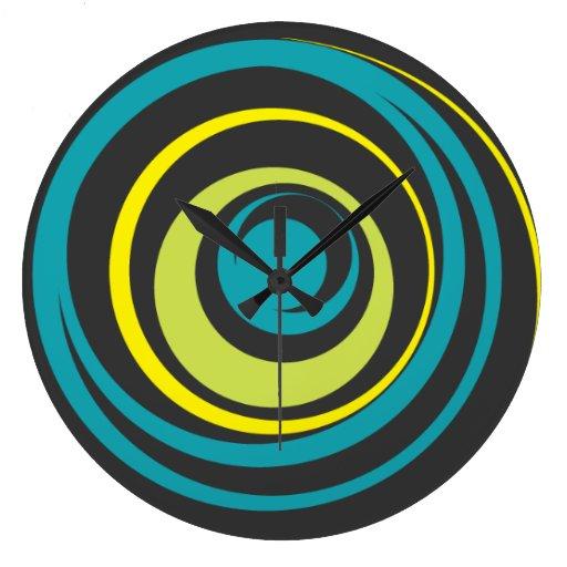 Reloj de Pared Twister Aqua Lime Yellow