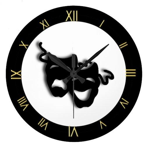 Reloj de pared único del teatro de la comedia y de