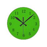 Reloj de pared verde de Kelly