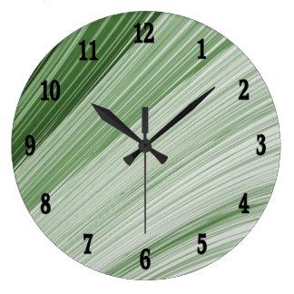 Reloj de pared verde de la astilla