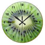 Reloj de pared verde del kiwi con números