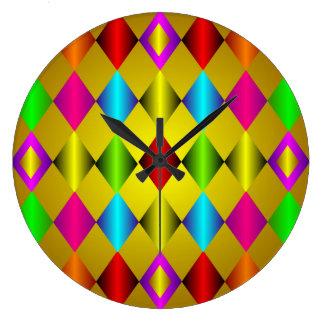 Reloj de pared vibrante colorido del modelo del di