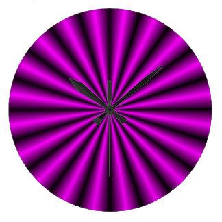 Reloj de pared violeta de la ilusión óptica del ef
