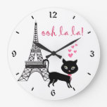 Reloj de París del gato