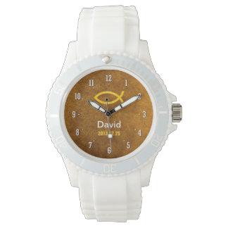 Reloj de Personalizable con símbolo cristiano de
