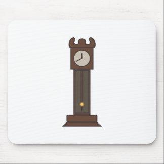 Reloj de pie alfombrilla de ratón