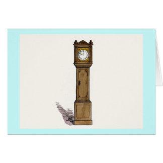Reloj de pie tarjeta de felicitación