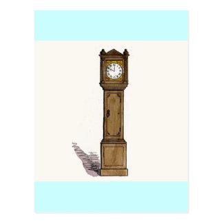 Reloj de pie tarjetas postales