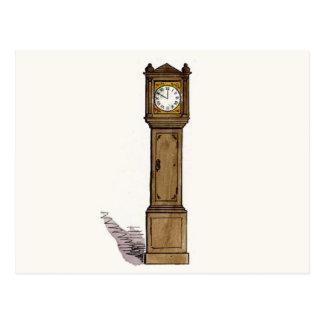 Reloj de pie tarjeta postal