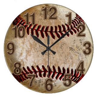 Reloj de piedra fresco del béisbol del vintage de
