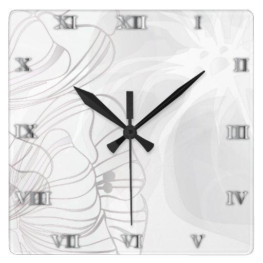 Reloj de plata de las amapolas