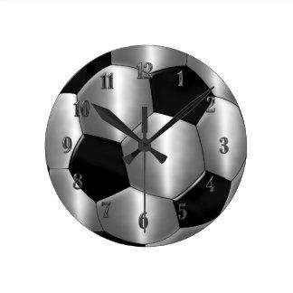 Reloj de plata del balón de fútbol